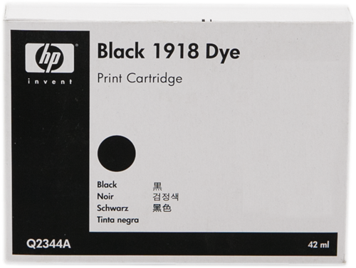 ~Brand New Original HP Q2344A (HP 1918) Dye Based INK / INKJET Cartridge Fast-Dry Black