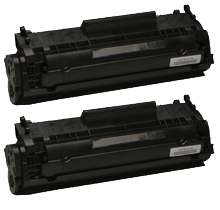 PACK of 2-HP Q2612A HP12A Laser Toner Cartridge