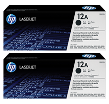 ~Brand New Original HP Q2612AD HP12AD Laser Toner Cartridge Dual Pack