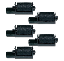 Casio IR-40 INK ROLLER Ribbons 6-PACK Black
