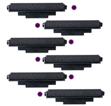 Casio IR-72 INK ROLLER Ribbons 6-PACK Purple