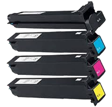 KONICA / MINOLTA TN214 Laser Toner Cartridge Set Black Cyan Yellow Magenta