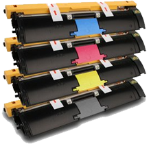 KONICA MINOLTA 2400W Laser Toner Cartridge Set Black Cyan Yellow Magenta