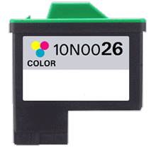 LEXMARK 10N0026 #26 INK/ INKJET Tri Color