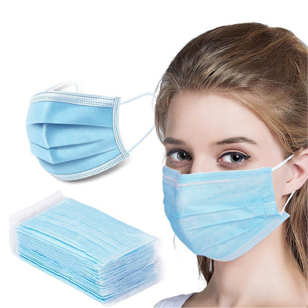2000 Pack Disposable Face Mask Safety, 3-Ply Ear Loop