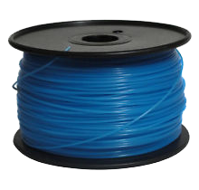 3D-ABS-G-Bu Glow Blue Universal Filament Glow Blue 1KG / Roll Glow In Dark Diameter 1.75mm