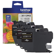 ~Brand New Original BROTHER LC30113PKS INK / INKJET Cartridge Color Set Cyan Magenta Yellow