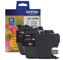 ~Brand New Original BROTHER LC30112PKS INK / INKJET Cartridge Black (2 Pack)