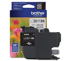 ~Brand New Original BROTHER LC3011BKS INK / INKJET Cartridge Black