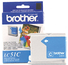 ~Brand New Original BROTHER LC51C INK / INKJET Cartridge Cyan