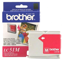 ~Brand New Original BROTHER LC51M INK / INKJET Cartridge Magenta