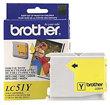 ~Brand New Original BROTHER LC51Y INK / INKJET Cartridge Yellow