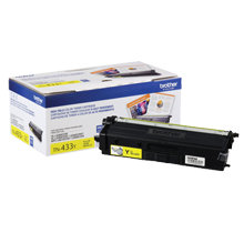 ~Brand New Original BROTHER TN-433Y Laser Toner Cartridge High Yield Yellow