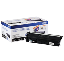 ~Brand New Original BROTHER TN-433BK Laser Toner Cartridge High Yield Black