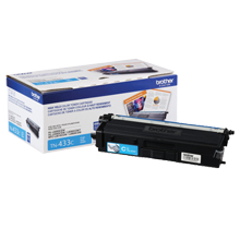 ~Brand New Original BROTHER TN-433C Laser Toner Cartridge High Yield Cyan