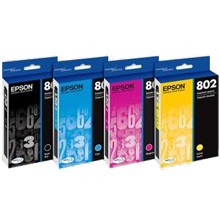 ~Brand New Original EPSON T802XL T802 INK / INKJET Set High Yield Black + Standard Yield Cyan Magenta Yellow
