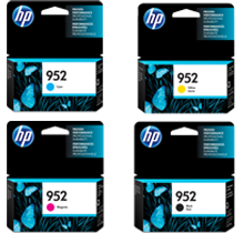 ~Brand New Original HP 952 INK / INKJET Cartridge Set Black Cyan Yellow Magenta