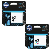 ~Brand New Original HP F6U61AN / F6U62AN (HP 63) INK / INKJET Cartridge Combo Pack Black Tri-Color