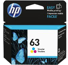 ~Brand New Original HP F6U61AN (HP 63) INK / INKJET Cartridge Tri-Color