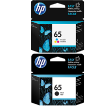 ~Brand New  Original HP N9K01AN / N9K02AN (#65) INK / INKJET Cartridge Combo Pack Black Tri-Color