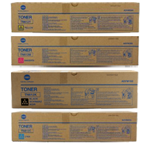 ~Brand New Original KONICA MINOLTA TN612 Laser Toner Cartridge Set Black Cyan Yellow Magenta