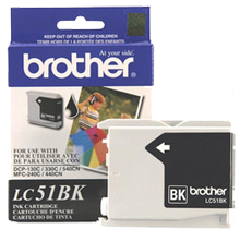 ~Brand New Original BROTHER LC51BK INK / INKJET Cartridge Black