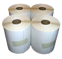4x 6   thermal transfer paper labels,  round corners,  perf between labels  ,  permanent adhesive,  4000/box,  1000 labels/roll,  4 rolls/box