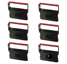 VERIFONE CRM0023BR Ribbons 6-PACK Black / Red