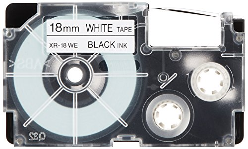 "Casio Black on White Cassette Label Tape 18MM / 3/4"" - 8M / 26'"