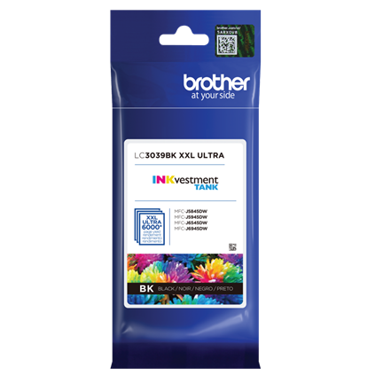 ~Brand New Original Brother LC3039BK Black Ink Cartridge Ultra High Yield