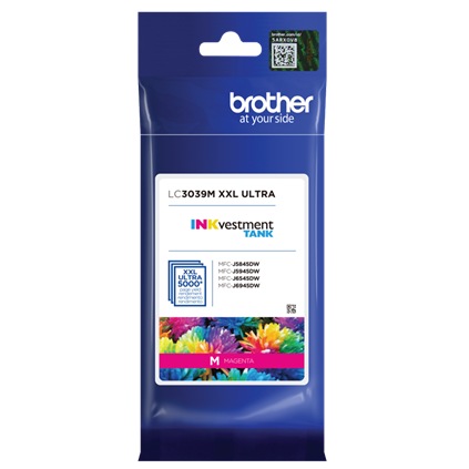 ~Brand New Original Brother LC3039M Magenta Ink Cartridge Ultra High Yield